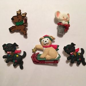 Hallmark Christmas Pin Set